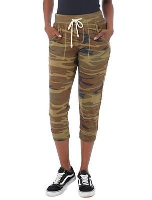 Alternative Cropped Printed Eco-Jersey Jogger Pants