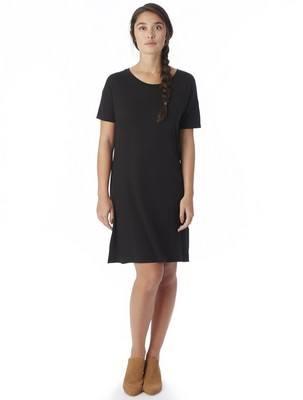 Alternative Straight Up Cotton Modal T-Shirt Dress