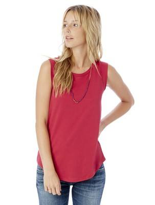Alternative Cap Sleeve Satin Jersey Crew T-Shirt