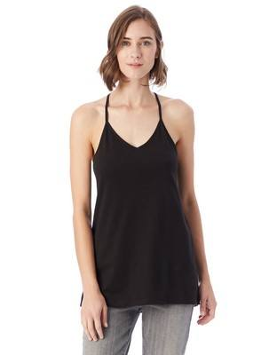 Alternative Strappy Satin Jersey Tank Top