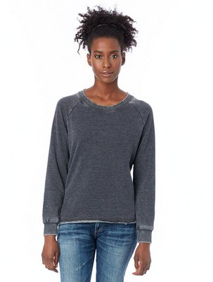 Alternative Lazy Day Burnout French Terry Pullover Sweatshirt