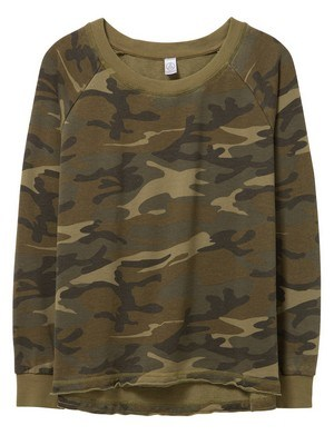 Alternative Lazy Day Printed Burnout French Terry Pullover Sweatshirt