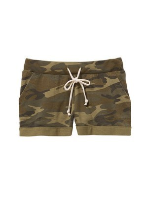 Alternative Lounge Printed Burnout French Terry Shorts