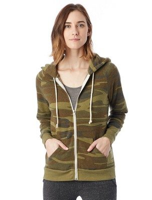 Alternative Adrian Printed Eco-Fleece Zip Hoodie