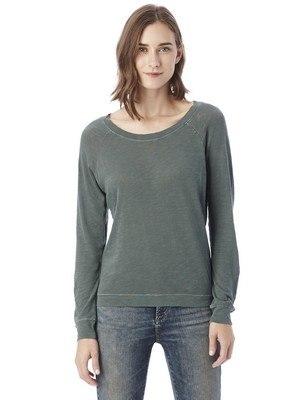 Alternative Slouchy Garment Dye Slub Pullover