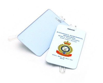 "1/16"" Thick Printed Luggage Tag with Business Card Insert"