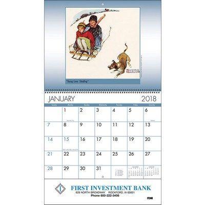 An American Illustrator Wall Calendar - Spiral