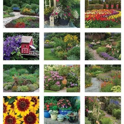 Gardens and Flowers Wall Calendar - Stapled
