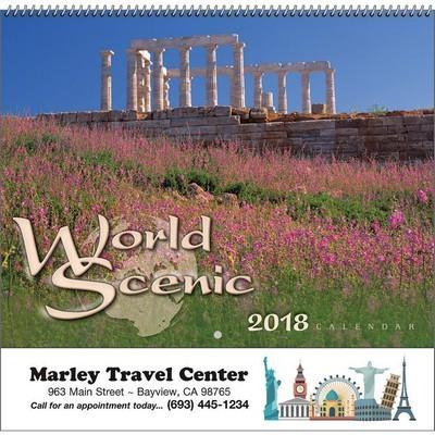 World Scenic Wall Calendar - Spiral