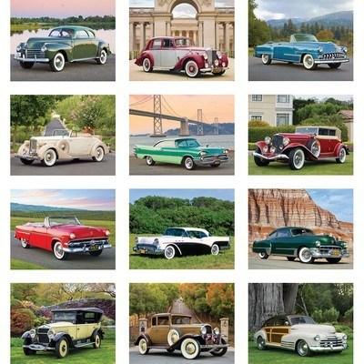 Classic Cars Wall Calendar - Spiral