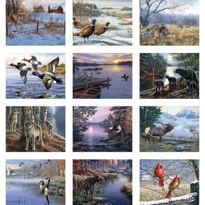 Wildlife Art Wall Calendar - Stapled