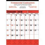 Picture of Commercial Planner Wall Calendar - Red & Black
