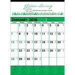 Picture of Commercial Planner Wall Calendar - Green & Black