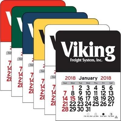 Rectangle Vinyl Adhesive Mini Stick 2017 Calendar