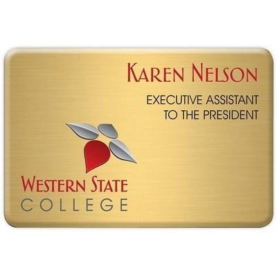 "Aspen Standard Name Badge: 2"" x 3"""