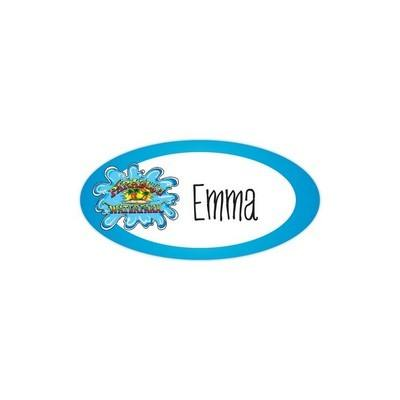 "Budget Name Badge: 1-1/2"" x 3"" oval"