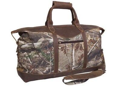 Realtree Camo Leather Duffel Bag