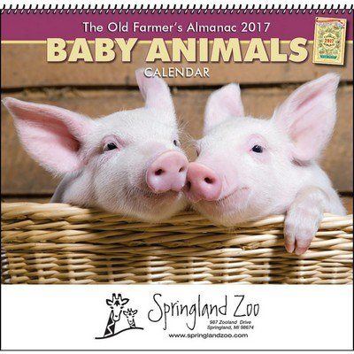 The Old Farmer's Almanac Baby Animals - Spiral