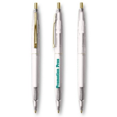 BIC Clear Click Gold Roller Pen