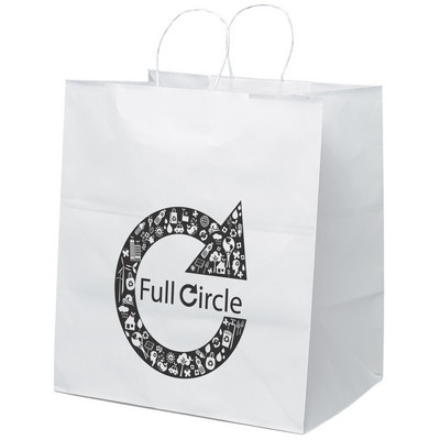 Brute Paper Bag - White