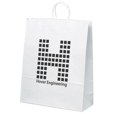 Stephanie Paper Bag - White