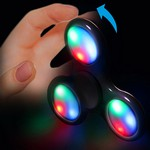 Picture of Lit Light Up Black Fidget Spinner (Full Color)