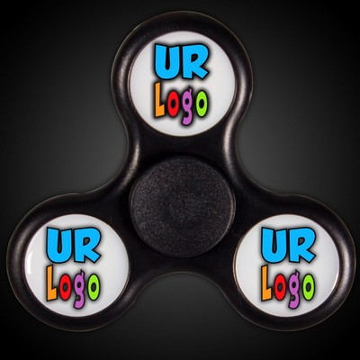 Lit Light Up Black Fidget Spinner (Full Color)