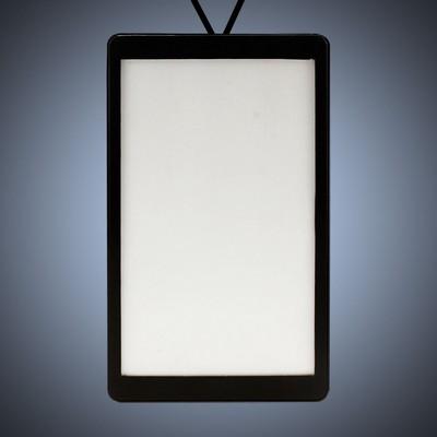 Backlit LED Badge Necklace - Rectangle