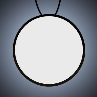 Backlit LED Badge Necklace - Circle