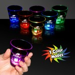 Picture of Clear Light Up Shot Glass with Multi Color LEDs - 2 Ounce
