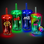 Picture of Light Up Travel Cup with Clear Lid and Straw