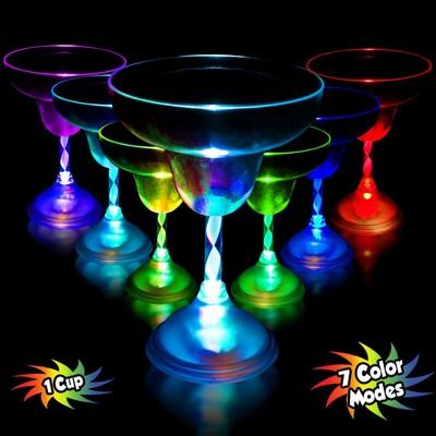 Light Up 10 1/2 Ounce Margarita Glass