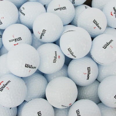 Wilson Plain White Golf Ball, Bulk Packed