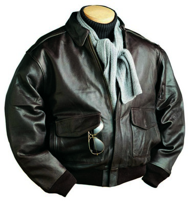 Burk's Bay A-1 Cowhide Leather Bomber Jacket