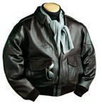 Picture of Burk's Bay A-1 Cowhide Leather Bomber Jacket