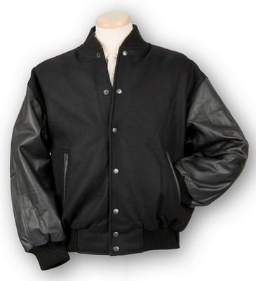 Burk's Bay Wool & Leather Varsity Jacket
