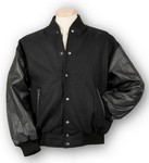 Picture of Burk's Bay Wool & Leather Varsity Jacket