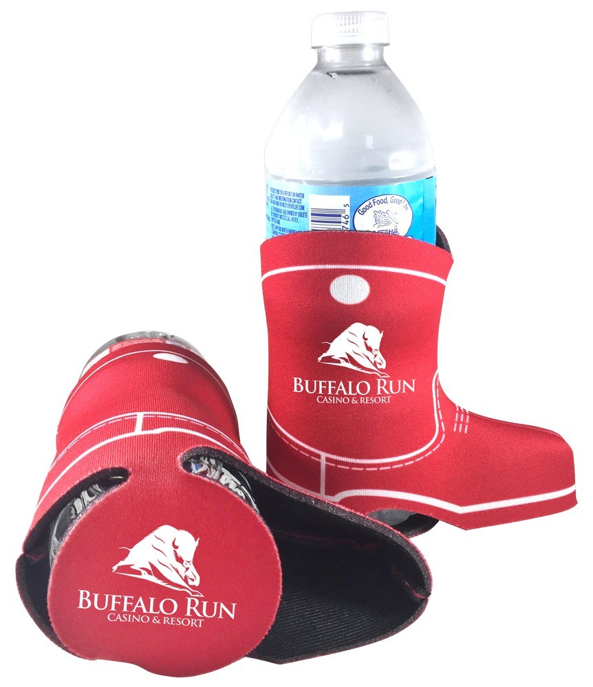 db64d7831394fd Customizable Slide-On Boot Bottle Coolie - Promotion Pros