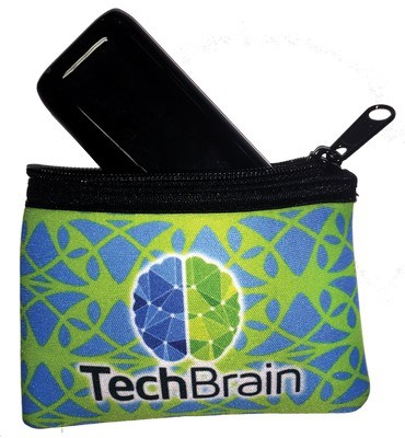 "Zippered Scuba Bag 5"" x 3"" - Full Color"
