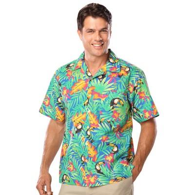 Adult Tucan Print Camp Shirts