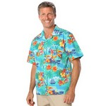 Picture of Adult Tropic Print Camp Shirts