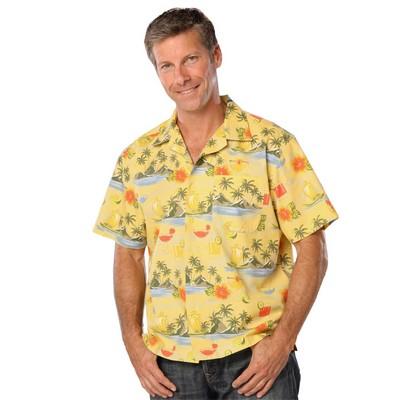 Adult Cocktail Print Camp Shirt