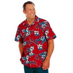 Picture of Adult Hibiscus Print Camp Shirts