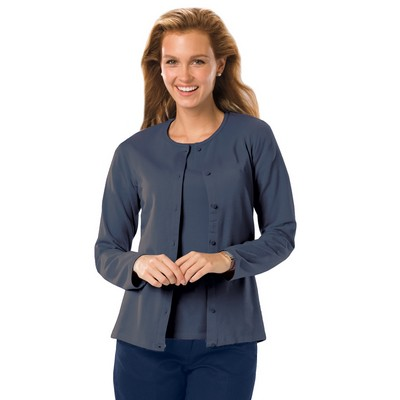 Ladies' Long Sleeve Button Front Cardigan