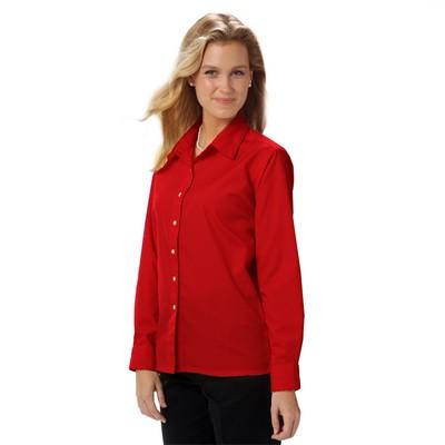 Ladies' Long Sleeve Teflon Treated Twill