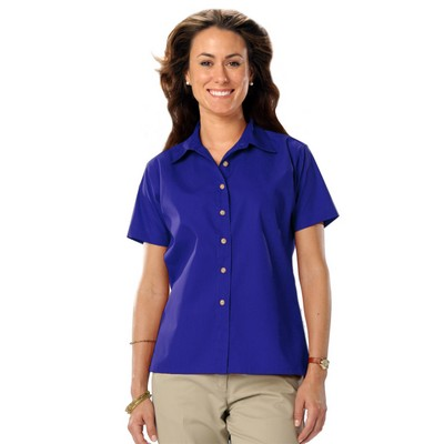 Ladies' Short Sleeve Teflon Treated Twill