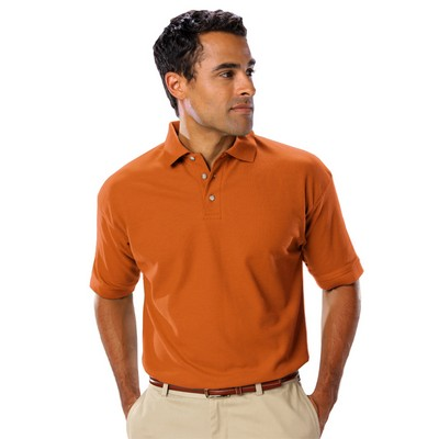 Men's Short Sleeve Teflon Treated Pique No Pocket