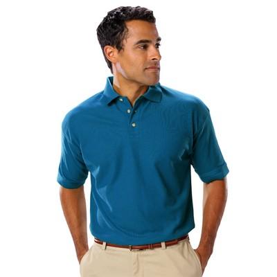 Men's Short Sleeve Teflon Treated Pique No Pocket