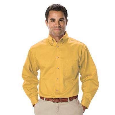 Men's Long Sleeve Teflon Treated Twill