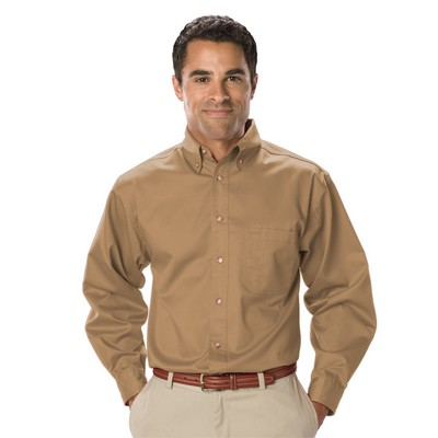 Men's Tall Long Sleeve Teflon Treated Twill
